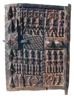 Photograph by Tim Hamill. Granary doors cover the… Grain Storage, Growth And Decay, African House, Afrique Art, Art Tribal, World Crafts, Visual Texture, African Masks, Pattern And Decoration