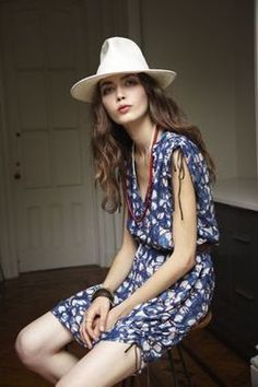 Digging this breezy look with the #chic white hat. #fashion #style #summer #women
