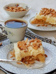 Food for thought: Εκμέκ κανταΐφι Greek Sweets, Greek Desserts, Greek Recipes, No Bake Desserts, Sweets Recipes, Cake Recipes, Cypriot Food, Cake Cookies, Sweet Tooth
