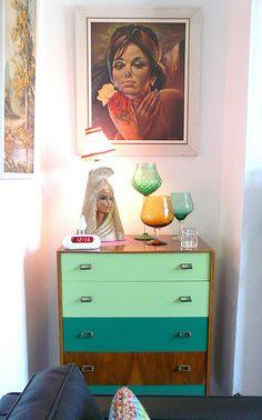 color blocked dresser