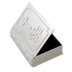 Personalised Silver Plated Bible Trinket Box - Engraved Free - New Arrival, Baptism, Christening, Confirmation, Holy Communion, Keepsake. Mark a First Holy Communion or Christening with this Bible Trinket Box!   eBay!