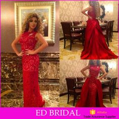 Check out this product on Alibaba.com App:Sexy Red Lace Mermaid Design Long Evening Dress With Detachable Satin Train https://m.alibaba.com/eEZzI3