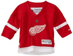 NHL Infant Detroit Red Wings Team Color Replica Jersey (Red, 12-24 Months)