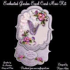 Enchanted Garden Bracket Shaped Easel Card Min Kit on Craftsuprint designed by Karen Adair - This is a two sheet mini kit, to make this beautiful bracket shaped easel card. The kit includes the card base, topper, 7 sentiment tags, one left blank for you to personalise if you wish, and plenty of decoupage. The card would suit any occasion, but I have included a sentiment tags for Mother's Day as well as birthdays and general sentiments. If you like this, check out my other designs, just click…