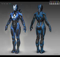 "ArtStation - Iron girl Mark Srt-1 ""Barracuda"" realtime model, Bogdan Gabelko"