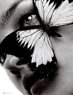 Natalia Vodianova by Michael Thompson for W Magazine Butterfly Effect, Butterfly Kisses, Butterfly Eyes, Michael Thompson, Madame Butterfly, Giant Butterfly, White Butterfly, Ladybug Y Cat Noir, Butterflies Flying