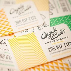 Branding Stationery || Business cards - really like the simple patterns