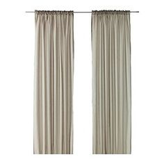 VIVAN curtains, 1 pair, beige $9.99 Ikea to make chair slipcovers for sacristy
