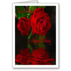 Red Rose Reflected - H B Niece Greeting Cards