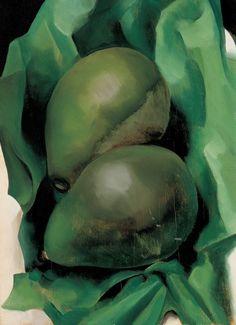 Georgia O'Keeffe (American, 1887-1986), Alligator Pears, 1923. Oil on board, 9 7/8 x 13 3⁄4 in. Georgia O'Keeffe Museum.