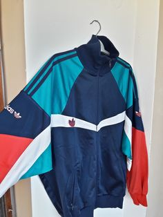 95aafb460ed Details about Rare Adidas Originals 80s 90s Vintage Tracksuit Top Made in  West Germany S-Msize