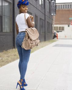 #Headwrap #Jeans #Highwaist #Headwraps