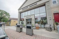 Gerhard's Appliances and Mattress Glenside, PA. Keswick Village. Stainless steel grills on display. Sealy.