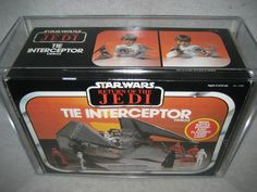 AFA 85 vintage Star Wars TIE INTERCEPTOR vehicle Kenner 1983 ROTJ Tie Fighter !!