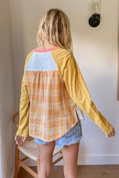 Patchwork Henley Wardrobes, Must Haves, Cool Style, Overalls, Bodysuit, Suits, Coat, Sweaters, Dresses