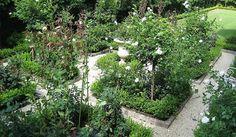 green and white palette White Gravel, House Gardens, Green, Plants, Courtyards, Landscapes, Palette, Garden, Paisajes