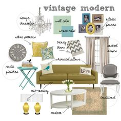 A home decor collage from October 2012