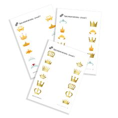 Image Maching úrovně 1 of the serie Princesses. Crown Images, Printables, Crowns, Princesses, Print Templates, Princess, Crown, Crown Royal Bags