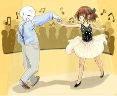 I love the idea of Frisk convincing Sans to be their partner for their ballet recital