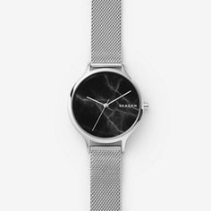 22a6d390d8 Anita Steel-Mesh Marble Watch Skagen Watches