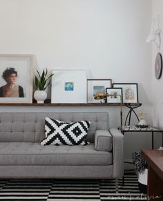 Check out this sweet setup with our Spencer Sofa. Clean, simple and modern. Ideas Hogar, Home And Living, Living Rooms, Sofa, Couch, Drawing Room, Next At Home, Olivia Spencer, Modern Interiors