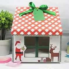 Merry Christmas Cupcake Boxes (Set of 12) – USD $ 11.99
