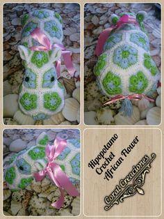 Hipopotamo Crochet African Flower