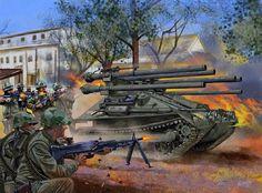 La Pintura y la Guerra. Sursumkorda in memoriam Military Guns, Military Art, Military History, Military Vehicles, Vietnam War Photos, Vietnam Vets, Military Drawings, Military Pictures, Korean War