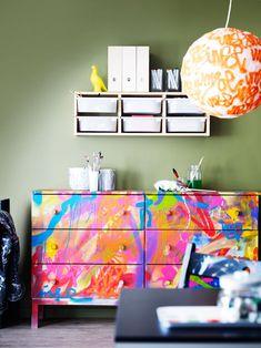 IKEA Tarva chest customized DIY paint job