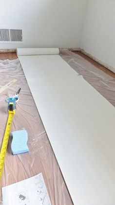 DIY Beadboard Wallpaper Tutorial Installing Allen Roth Paintable Wall Paper