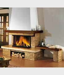 caminetto a legna rustico - panca Classic Fireplace, Facade House, Sweet Home, Villa, Bench, Living Room, Bedroom, Interior, Fireplaces