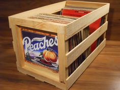 Peaches album crates- I still have mine!