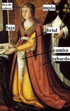 INDUMENTARIA y VIDA COTIDIANA en ESPAÑA: Indumentaria de Mujer entre 1500-1510