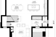 Plan de Maison Moderne Ë_140 | Leguë Architecture Best Investments, Architect Design, Architecture, Home Remodeling, House Plans, Floor Plans, House Design, How To Plan, Houses