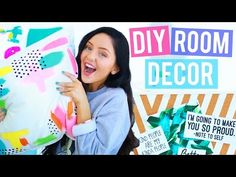 DIY Room Decor You NEED To Try! Bedroom Makeover, DIY Pillows + more! Today I have some super easy room decord DIYs so you guys can do a l. Easy Diy Room Decor, Diy Home Decor, Thrifty Decor, Diy Back To School Supplies, Sarah Betts, Architecture 3d, Room Tour, Do It Yourself Home, Shabby Chic Homes