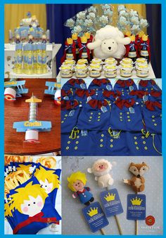 el principito ideas para souvenirs Prince Birthday Theme, Baby Birthday, 1st Birthday Parties, Little Prince Party, The Little Prince, Fiesta Baby Shower, Baby Shower Parties, Beauty And Beast Wedding, Ideas Para Fiestas