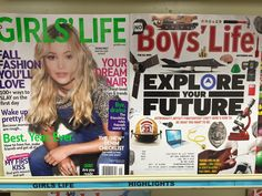 One might not expect the contrasting covers of Boys' Life and Girls' Life, two magazines aimed at pre-adolescents, to spark a conversation about the patriarchal ways in which our country both situates and normalizes gender divides, but then again,… Friendship Rules, Girls Life Magazine, Boys Vs Girls, Next Trends, Gender Roles, Gender Stereotypes, Gender Inequality, Intersectional Feminism, Open Letter