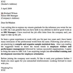 MBA Cover Letter Examples / Templates - MBA Letter to referrer MBA Cover Letter to Referral XYZ (Sender's Address) 5 April 2009 Mr Richard Wilson Senior HR Manager (Company's Address) Dear Sir/Madam I am writing this to express my sincere gratitude for the reference you wrote for me to ABC ltd....