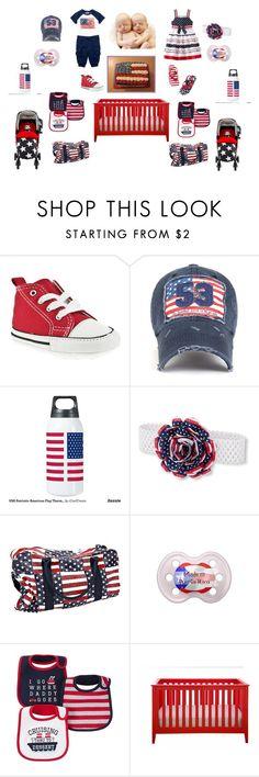 American Flag Twins. Girl and Boy