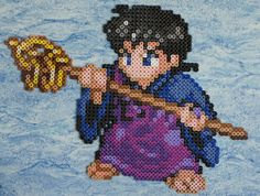 A bead sprite of Miroku made of Perler and Hama beads. The original sprite was found from The Spriters Resource and was ripped by EternalLight. Hama Beads Patterns, Beading Patterns, Perler Bead Art, Perler Beads, Miroku, Anime Pixel Art, Pixel Art Templates, Disney Silhouettes, Pixel Pattern