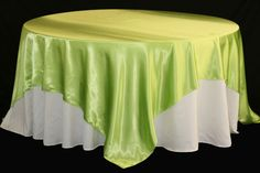 """Square 90""""x90"""" SATIN Table Overlay - Apple Green"""