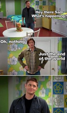 Supernatural Humor Gabriel was awesome! I totally cried