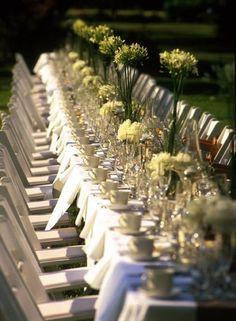 Mesas largas o imperiales para tu boda