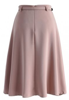 You may need to do away with your go-to black pencil skirt for the office. Color your look with this Savvy Basic-belted A-line skirt. Its pretty pink hue is the perfect pastel to bring out your wardrobe this summer while maintaining your subtle, simplistic style. - Belt accompanied - Concealed back zip closure - Lined - 100% polyester - Hand wash Size(cm)Length Waist XS 66 62 S 66 66 M 66 70 L 66 74...
