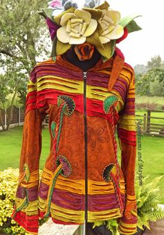 ♥ ~ FAB NEW RUST HIPPIE JACKET TOP BOHO TIE DYE FESTIVAL MED UK 12 / 14 HIPPY ♥ in Clothes, Shoes & Accessories, Women's Clothing, Hoodies & Sweats | eBay