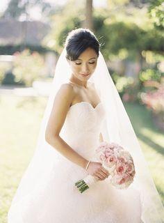 pink peonies wedding bouquet