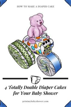 diaper cake | diaper cake boy | diaper cake girl | diaper cake how to make a | diaper cake ideas All of the diaper cakes in this video series are comprised of a combination of big diaper wheels, medium diaper wheels and/or small diaper wheels. First lets learn to make them!