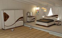 Wave deco bed set with wardrobe. Bedroom Furniture Design, Modern Bedroom Design, Master Bedroom Design, Bed Design, Home Decor Bedroom, Bedroom Designs, Bedroom Sets, Dream Bedroom, Futuristic Bed