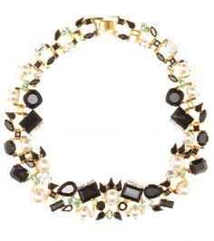 Erdem - Collier en plaqué or 23ct avec perles et cristaux Swarovski - mytheresa.com GmbH