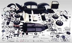 Beetle dissection. We have all the parts you need for your beetle #vw #classicparts